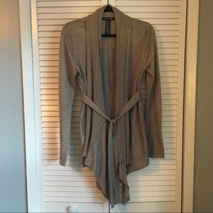 Forever 21 Tan Belted Cardigan Sweater